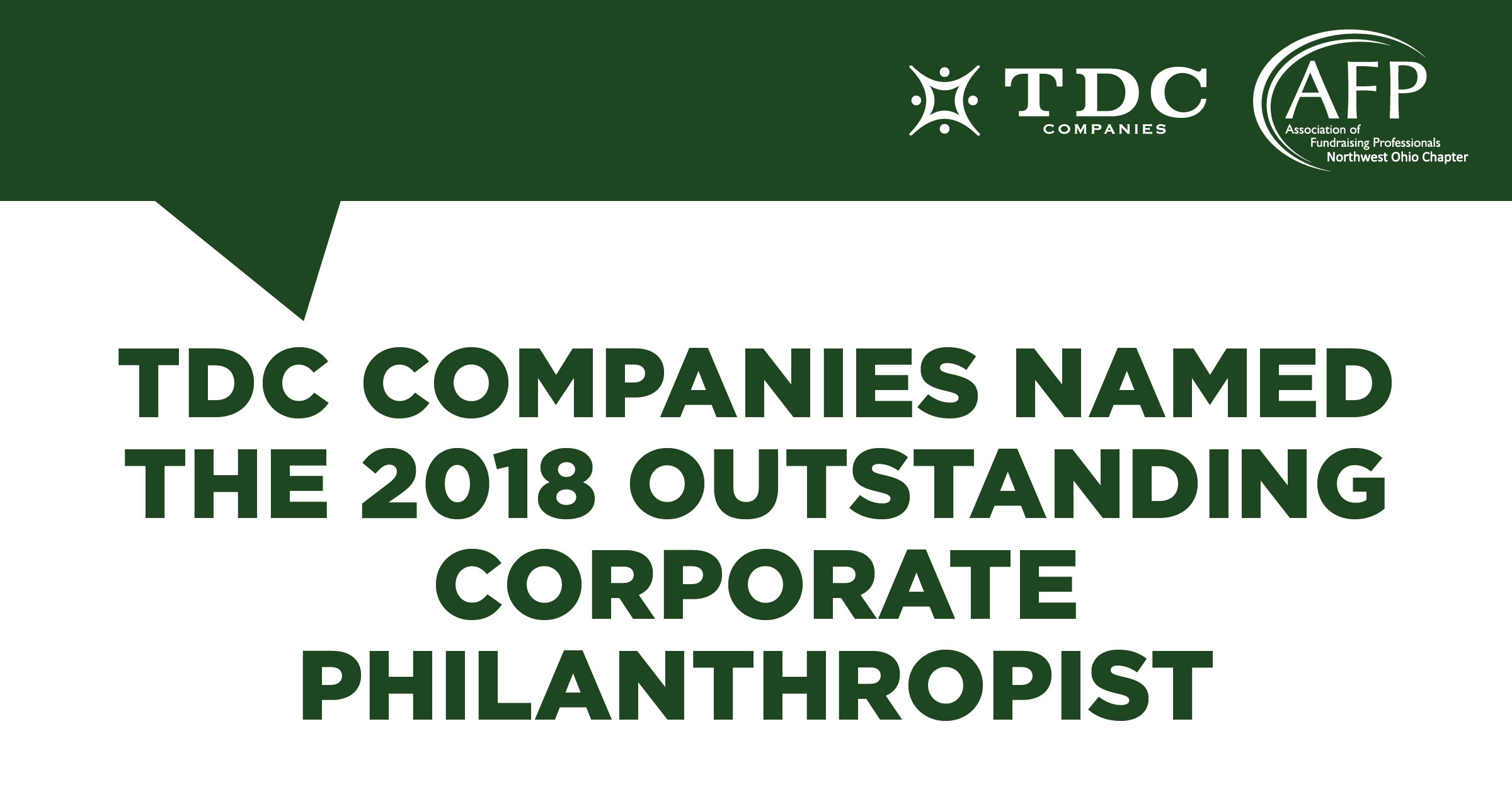 TDC Companies Named 2018 Outstanding Philanthropist