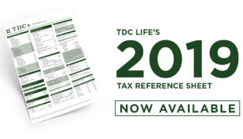 2019 Tax Reference Sheet Now Available