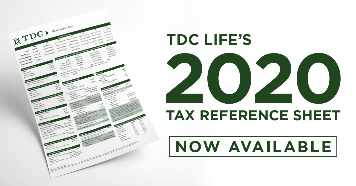 2020 Tax Reference Sheet Now Available