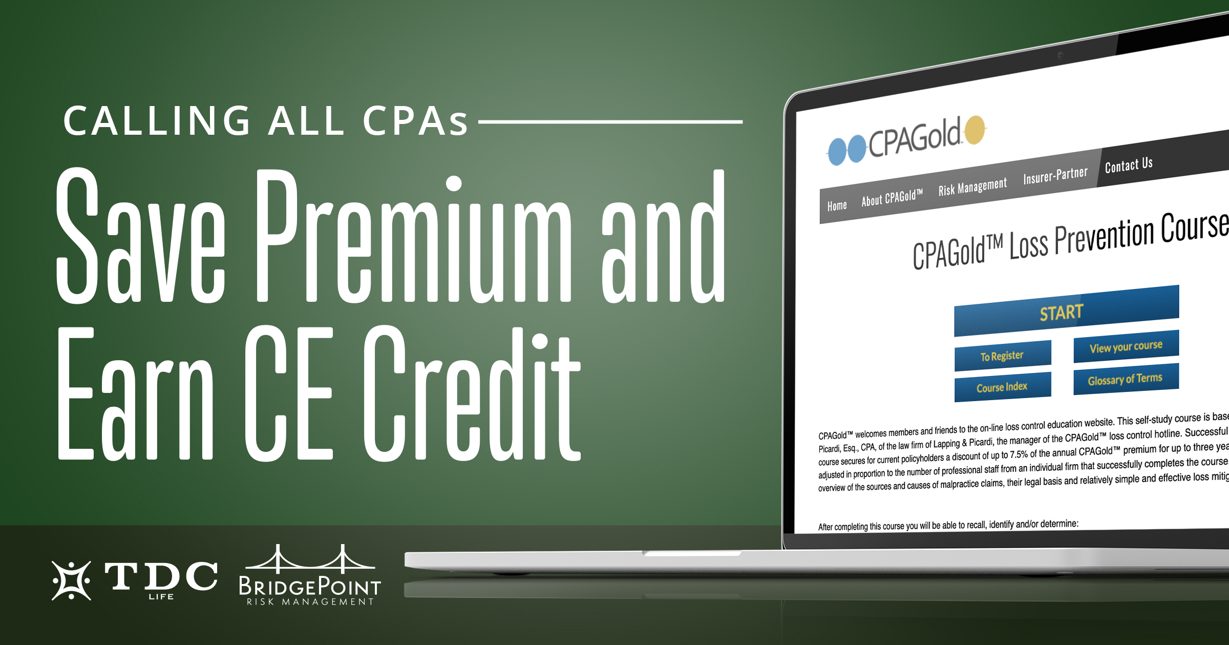 Calling All CPAs. Earn CE Credit and Save on Premium!